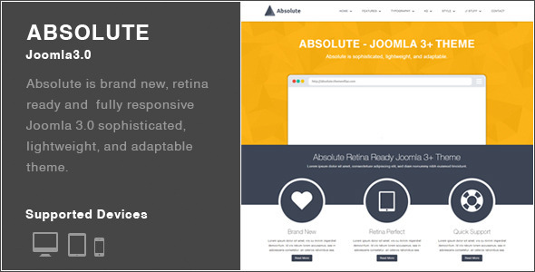 Absolute - Joomla 3+ Theme
