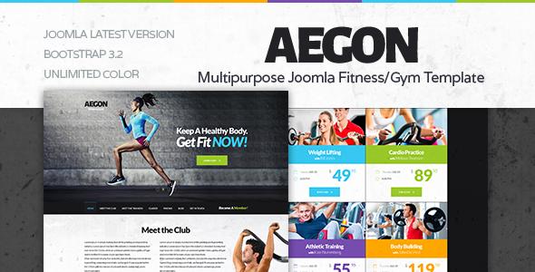 Aegon | Onepage Responsive Gym / Fitness Club Template