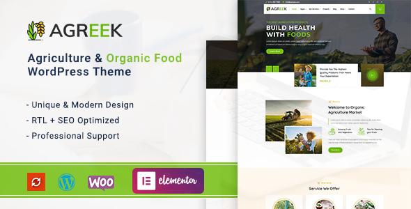Agreek - Agriculture & Organic Food WordPress Theme
