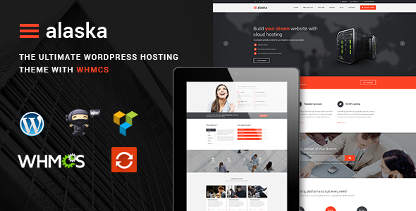 Alaska - SEO WHMCS Hosting, Shop & Business WordPress Theme