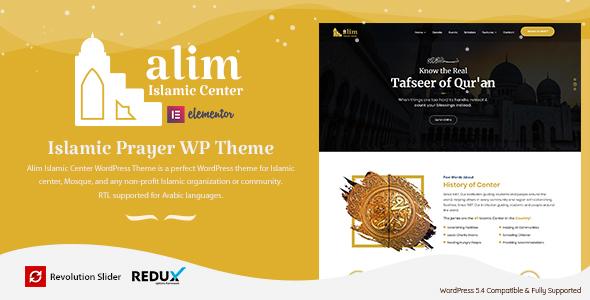 Alim - Islamic Center WordPress Theme
