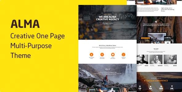 Alma — Parallax One Page Multi-Purpose Theme