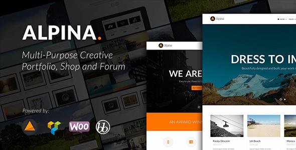 Alpina - Multi-purpose Creative Portfolio and Shop