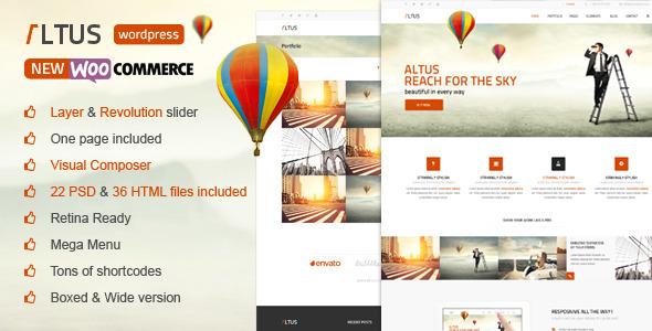 Altus - Multi-Purpose WordPress Theme