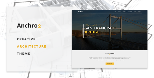 Anchro - Creative Architecture WordPress Theme