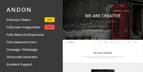 Andon - Responsive Onepage Wordpress Theme