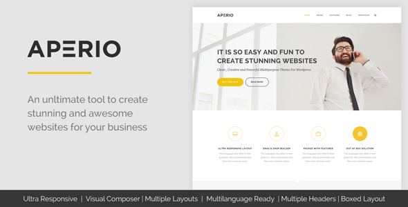 Aperio - Multipurpose WordPress Theme
