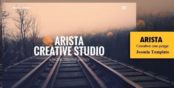 Arista - Creative One Page Template