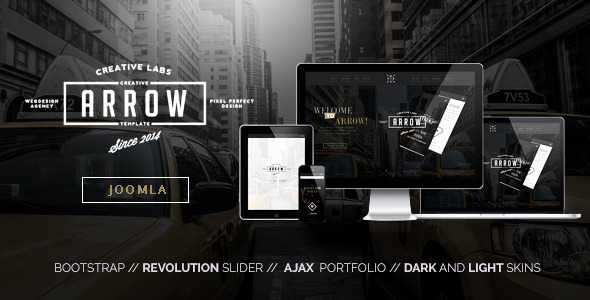 Arrow - Creative One Page Joomla Template