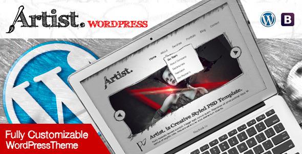 Artist Wordpress Theme - Painter Exhibition Sketch Handcraft Writer Art Pencil Design ShowCase