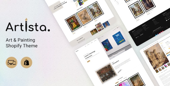 Artista - Artist and Painting Designers Agency Shopify Theme