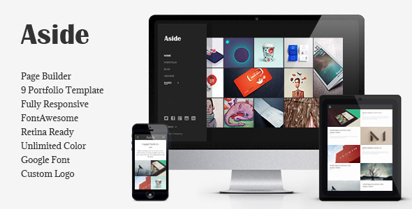 Aside - Photo Portfolio Sidebar WordPress Theme