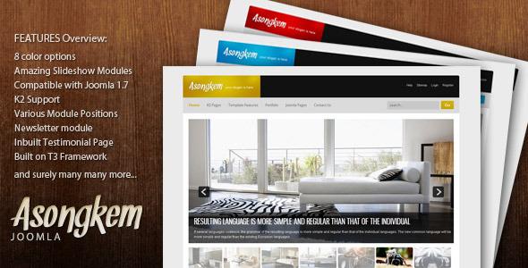 Asongkem - Premium Joomla Template