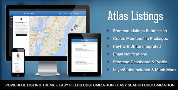 Atlas Directory & Listings Premium WordPress Theme