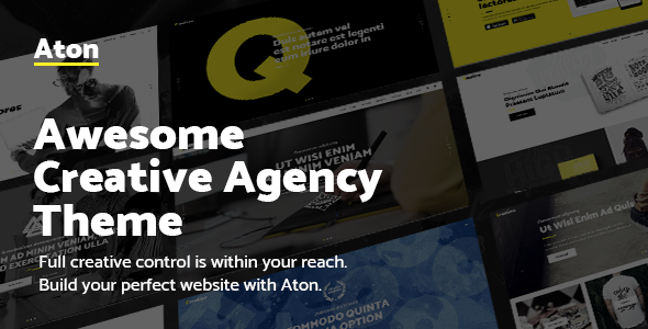 Aton - Modern Creative Design Agency Theme