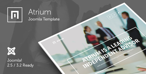 Atrium - Responsive One Page Joomla Template