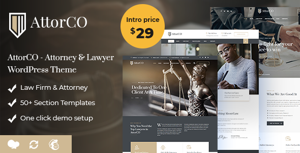 AttorCO - Attorney & Lawyer  WordPress Theme