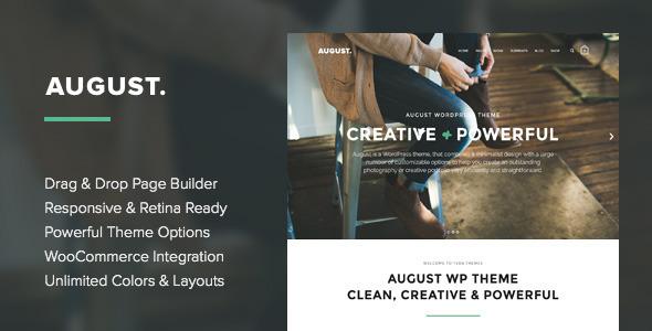 August - Creative Multi-Purpose WordPress Theme