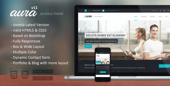 Aura - Responsive Multipurpose Joomla Template