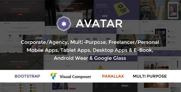 Avatar - One & Multi Page Parallax WordPress Theme