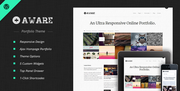 Aware - Responsive Wordpress Portfolio Theme