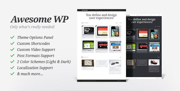 Awesome WP - Portfolio Theme
