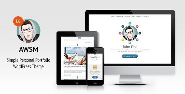 AWSM - One Page CV / Resume & Personal Portfolio WordPress Theme