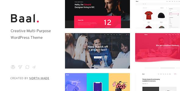 Baal - Creative Portfolio WordPress Theme