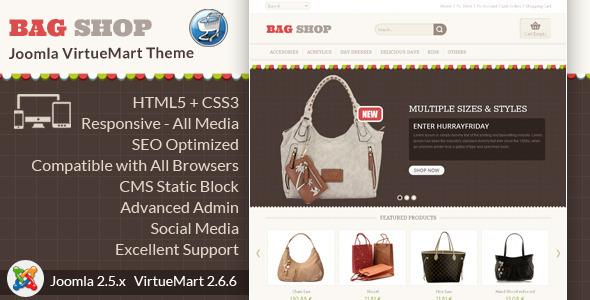 Bag Shop - VirtueMart Responsive Template
