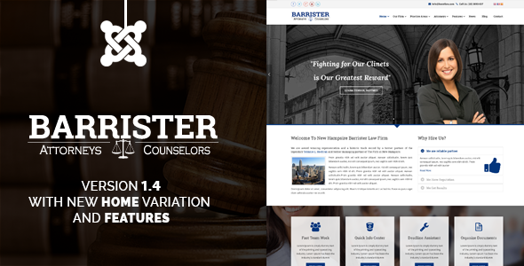 Barrister - Responsive Law Business Joomla Template