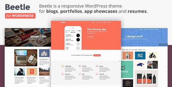 Beetle - Flat Responsive WordPress Theme