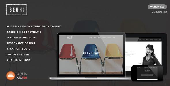 Beuh - Responsive One Page Portfolio Theme