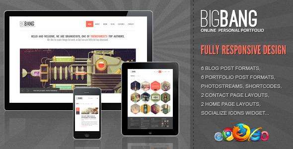 Bigbang - Responsive WordPress Template