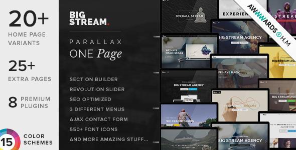 BigStream - Multipurpose Multi/One Page Responsive WordPress Theme