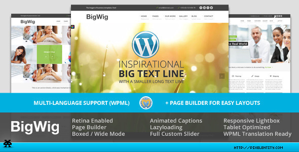 BigWig - Modern Corporate Retina WordPress Theme
