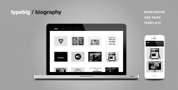 Biography - One Page Portfolio Joomla Template