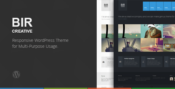 BIR - Responsive Creative WordPress Theme
