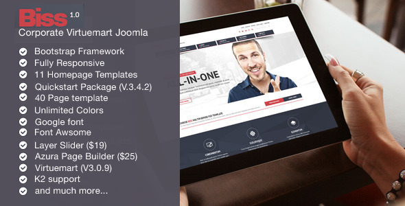 Biss - Corporate Virtuemart Joomla Template