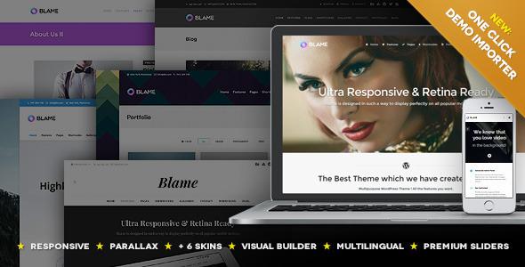 Blame - Responsive MultiPurpose WordPress Theme