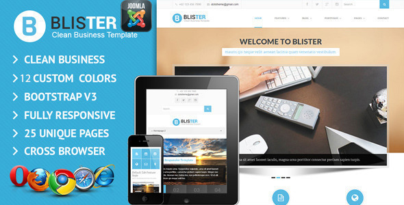 BLISTER Joomla Clean & Business Site Template
