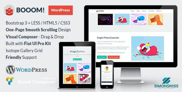Booom! - WordPress Theme with the Flat UI Pro Kit