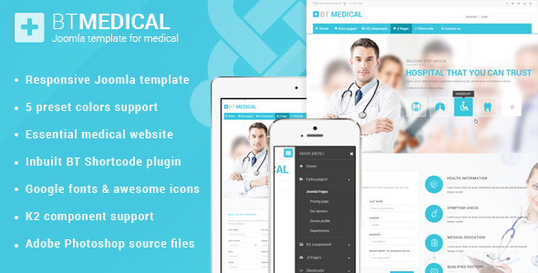 BT Medical | Responsive medical joomla template