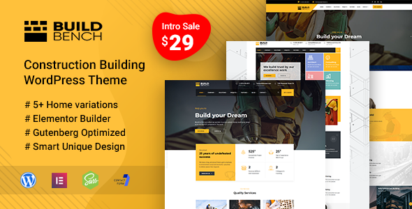 Buildbench - Building and Construction WordPress Theme