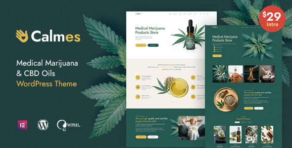 Calmes - Medical Marijuana WordPress Theme