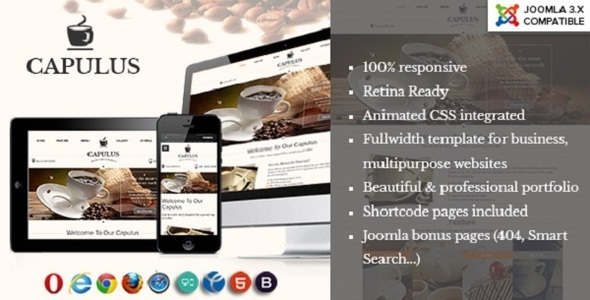 Capulus - A Multi Purposes Coffee Style Joomla Template