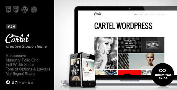Cartel - Responsive Portfolio WordPress Theme