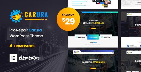 Carura - Car Services and Auto Repair Spa  WordPress Theme