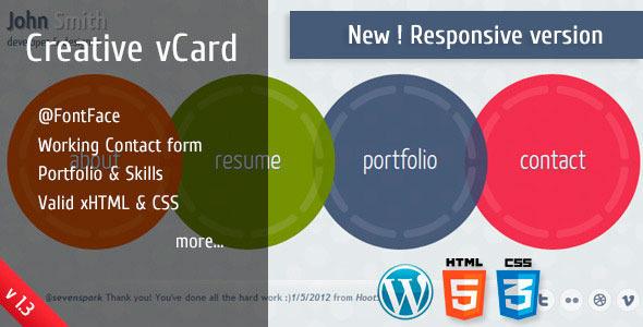 Circlus - Personal Portfolio &v Card HTML5&CSS3 WP
