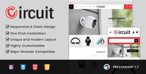Circuit - Electronic Store Prestashop 1.7 Responsive Theme