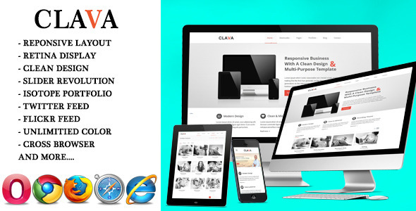 Clava - Multipurpose Responsive Joomla Template